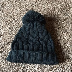 Women's black soft hat